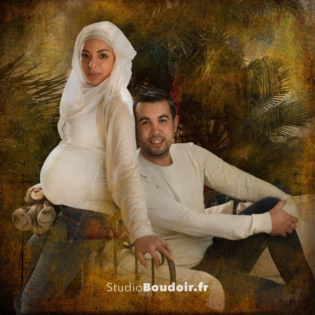 œuvre d'art, photo d'art, photo de grossesse couple, le Studio Boudoir, 94,75, Paris, Sucy en Brie