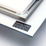 accroche métallique pour photo sous verre acrylic